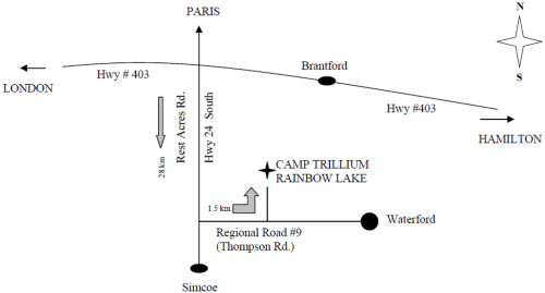 Directions to Camp Trillium