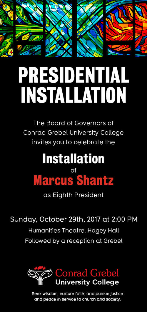Presidential Installation 2017 at Grebel