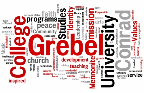 Grebel's mission statement in Wordle format