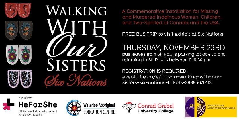 Poster for Walking with Our Sisters Event