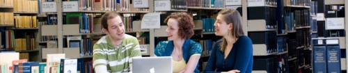 Students in the Conrad Grebel Library