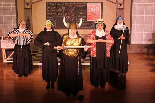"""Nuns in final scene of """"A Difficult Transition"""""""