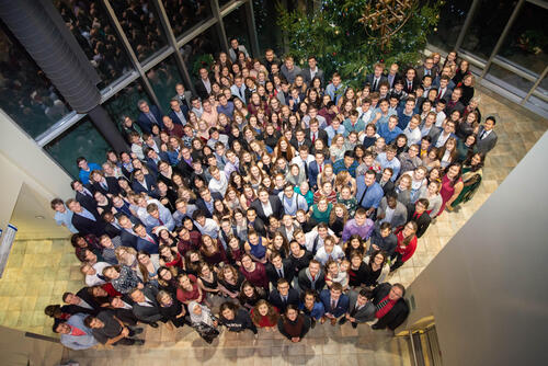 Photo of Fall 2019 Grebel residents and associates