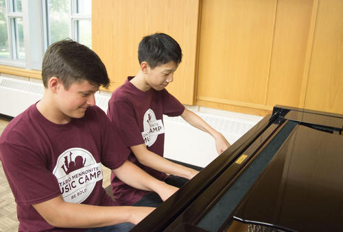 OMMC members playing piano