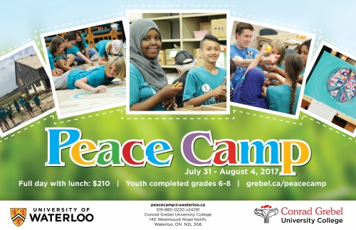 Peace Camp @ Conrad Grebel University College | Waterloo | Ontario | Canada