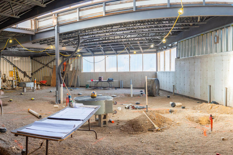 Panorama of the new kitchen under construction