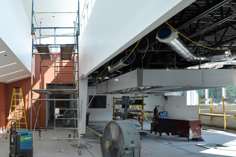 Inside the new kitchen enterance