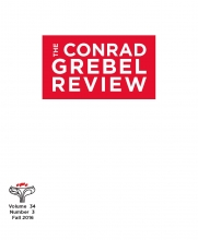 Cover of The Conrad Grebel Review vol. 34 no. 3 (Fall 2016).