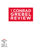 Cover of The Conrad Grebel Review vol. 36 no. 1 (Winter 2018).