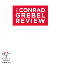 Cover of The Conrad Grebel Review vol. 35 no. 1 (Winter 2017).