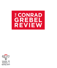 Cover of The Conrad Grebel Review vol. 35 no. 2 (Spring 2017).