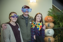 Students with a parent participating in Taste of Grebel activities