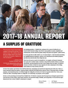 2017-18 Annual Report | Conrad Grebel University College