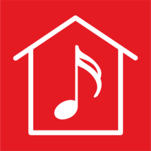 Noon hour at home icon