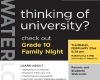 University of Waterloo Grade 10 Night Poster