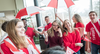 Grebel students dancing in red and white