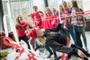 Grebel students doing the limbo