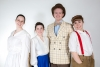 """""""Family photos"""" - Marian Paroo and her family with Harold Hil Played by students (l-r): Teresa Lumini, Ruth Tierney, Luke Froes"""