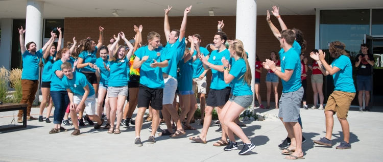 Grebel students at move-in day