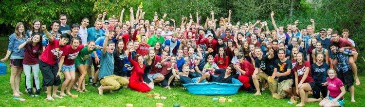group photo of Grebel students during orientation week