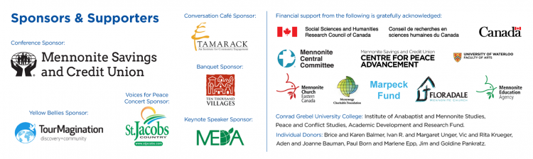 GMP Sponsors and financial supporters