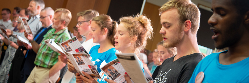 Grebel students, faculty, and staff will spend this year intentionally singing together as a way of building bridges.