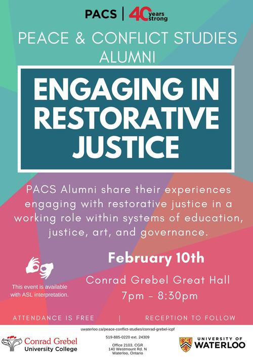 Engaging in Restorative Justice