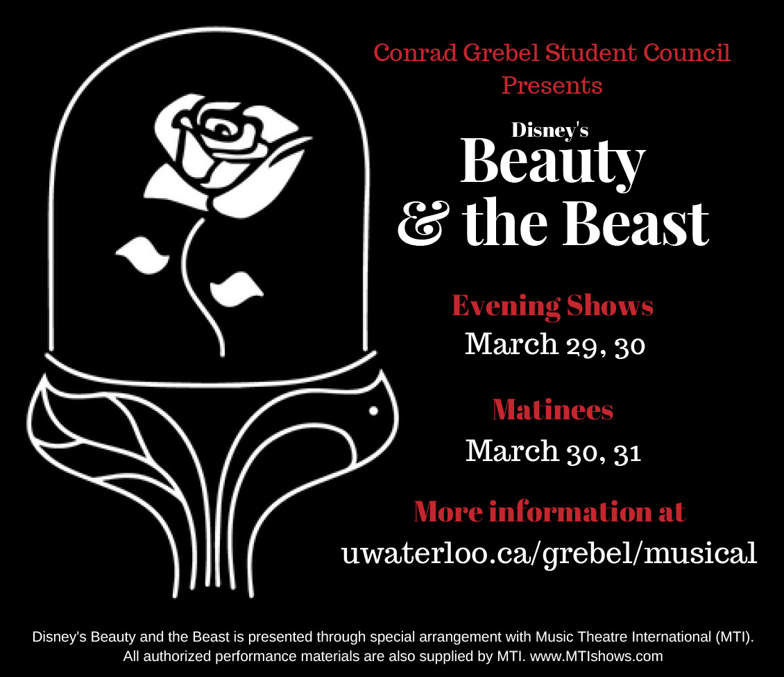 Grebel's Student Council production of Beauty and the Beast
