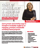 Conflict Management and Mediation info sheet