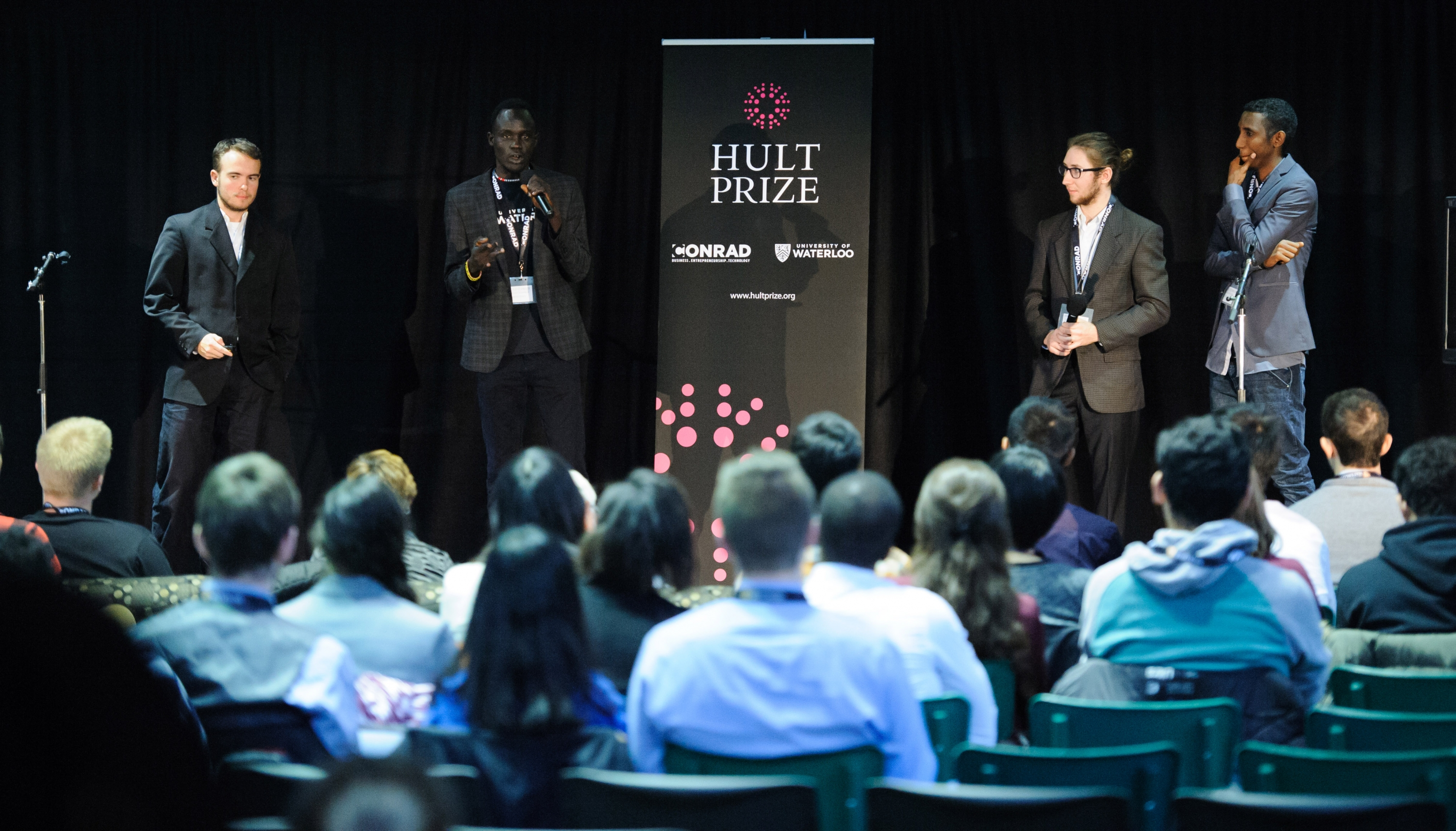 Students participated in the Hult Prize competition at University of Waterloo on November 24