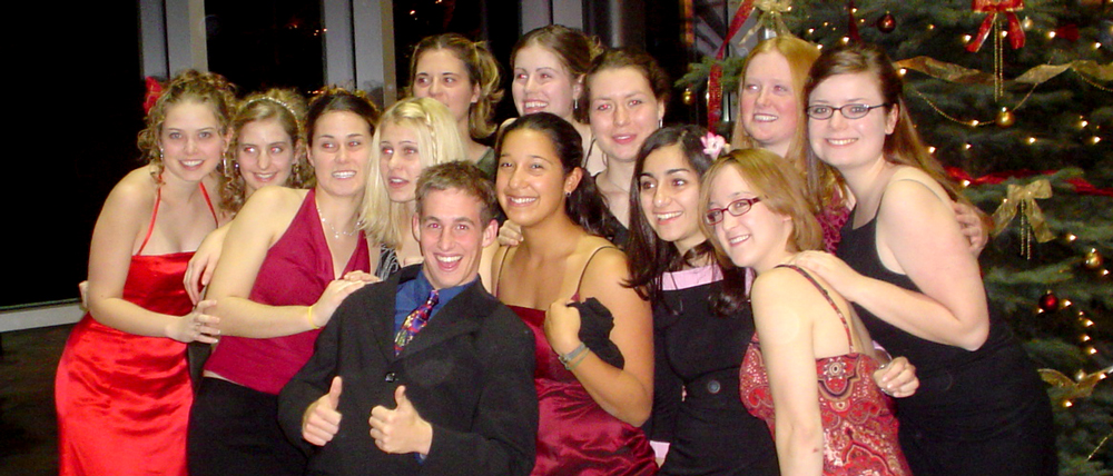 Grebel students at a 2004 end of term banquet