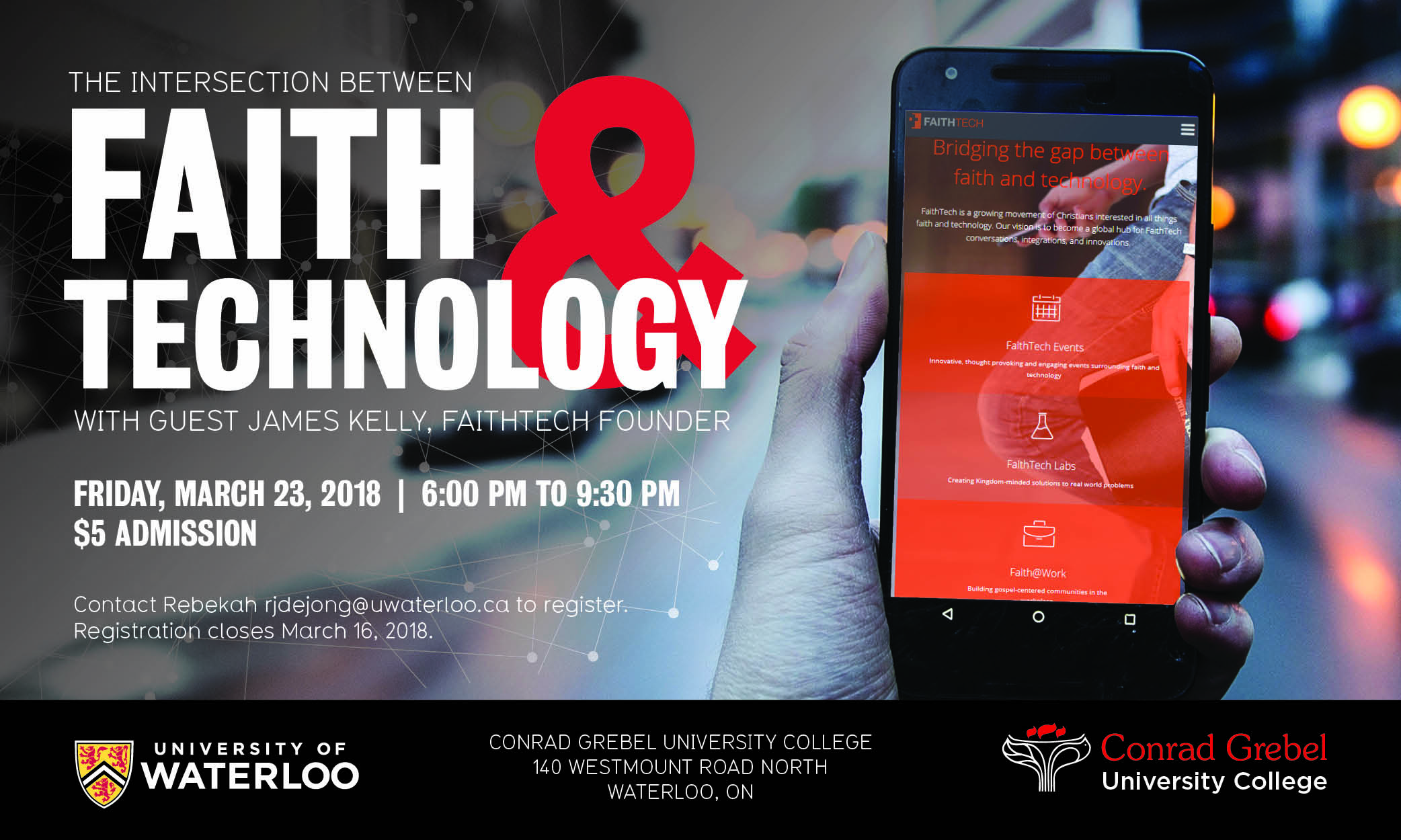 Faith and Technology Youth Event Poster
