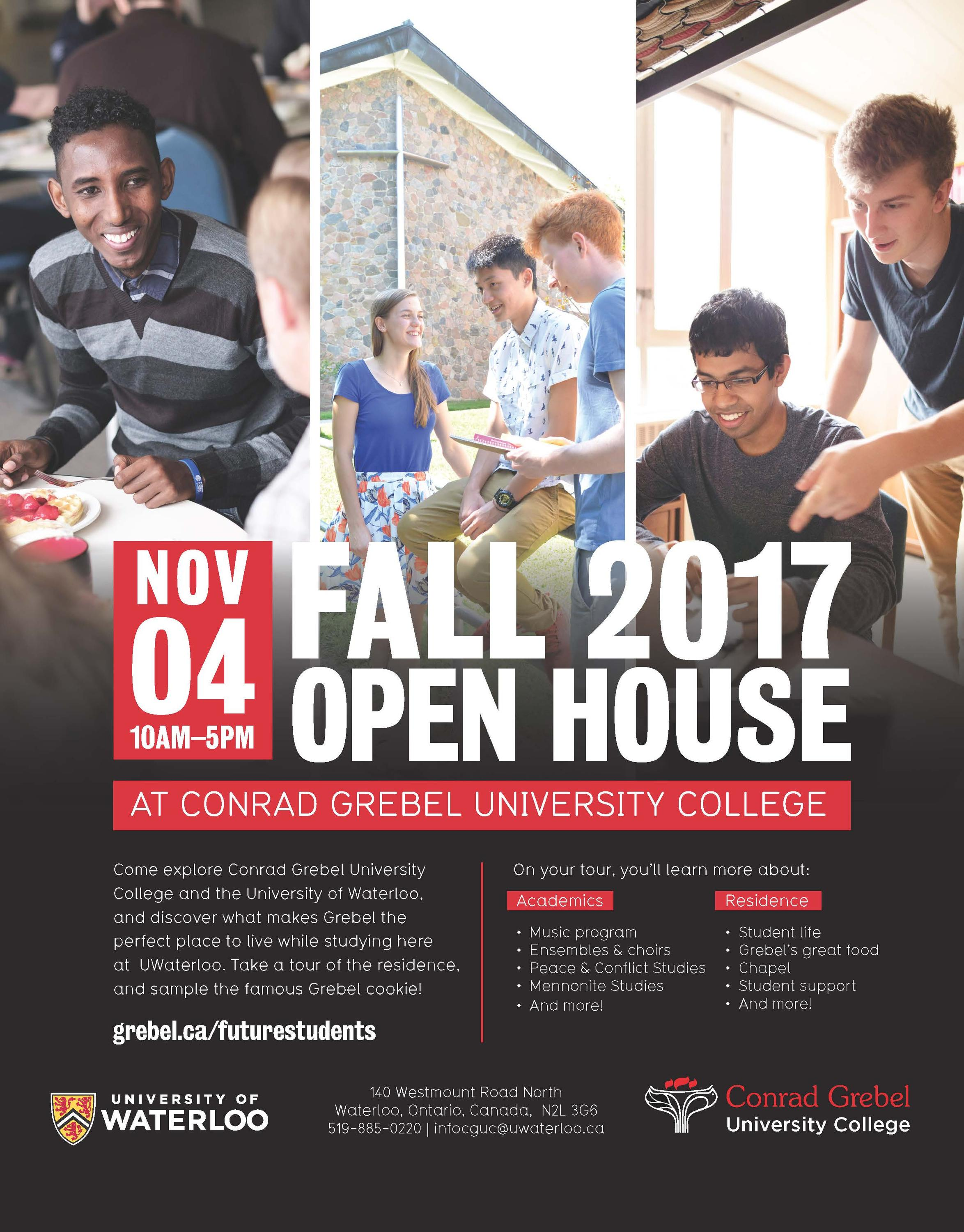 Fall open house poster