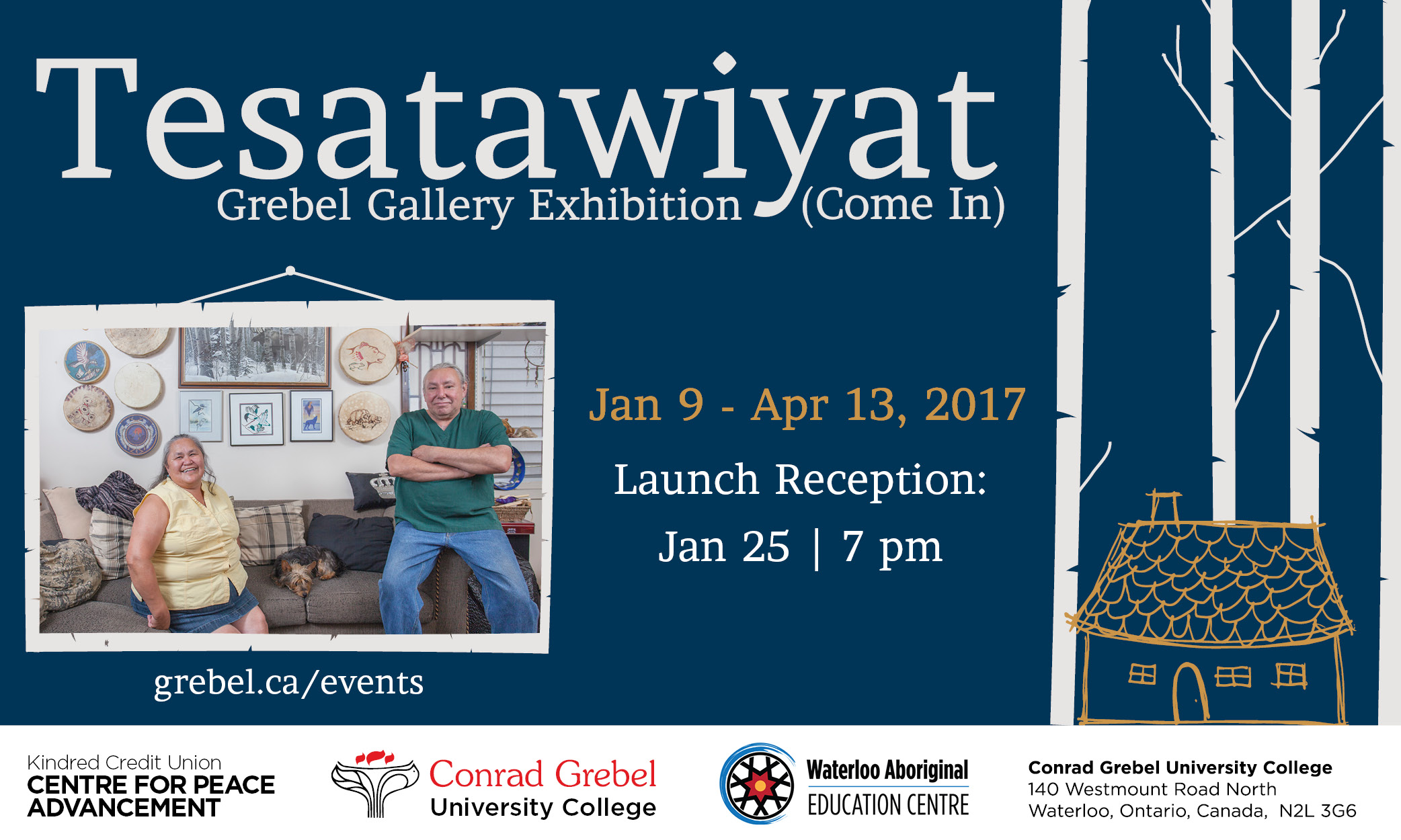 Tesatawiyat Gallery Launch poster