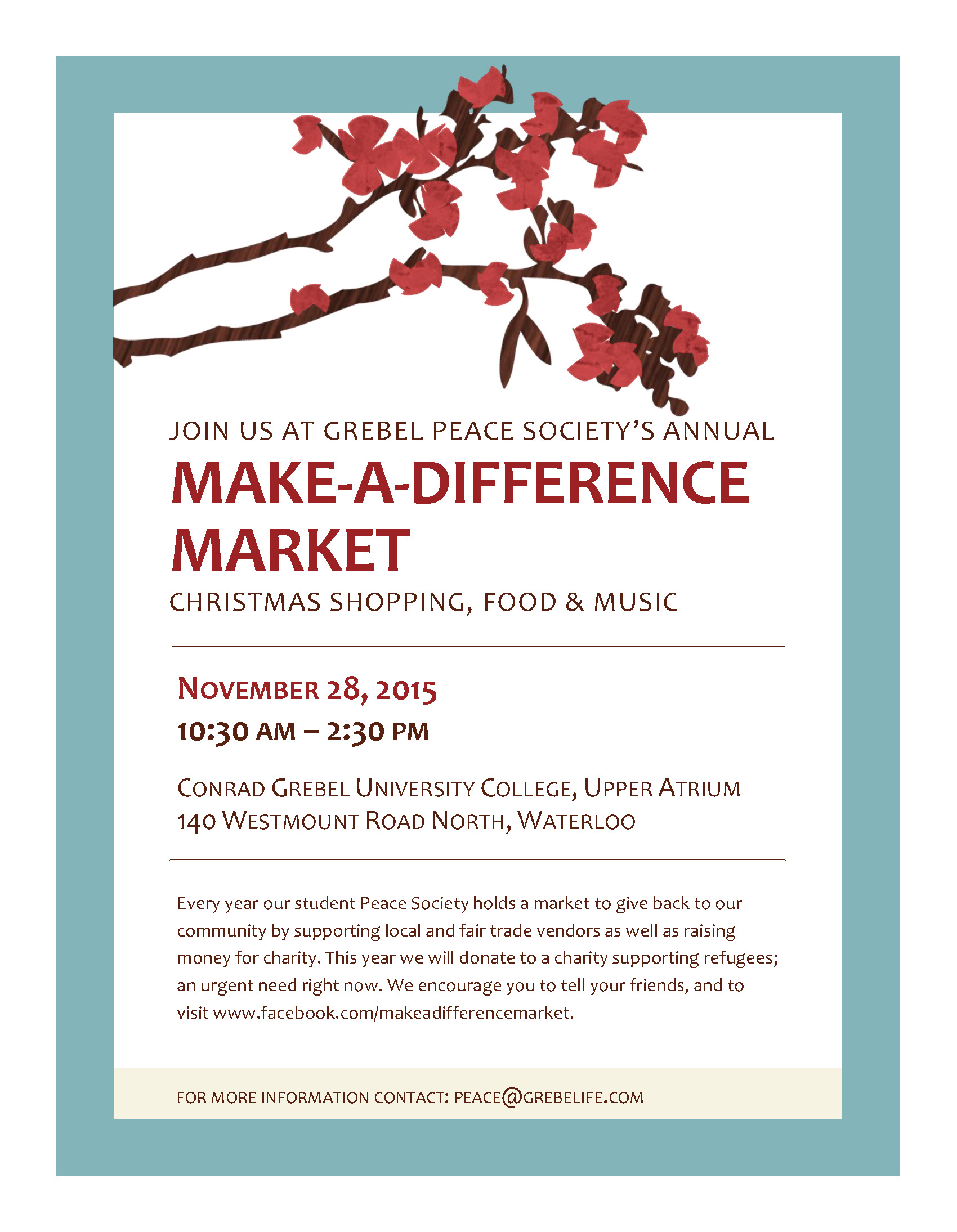 Make a Difference Market Flyer