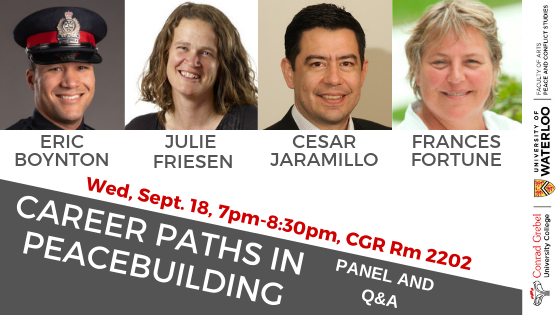 Career Paths in Peacebuilding invite