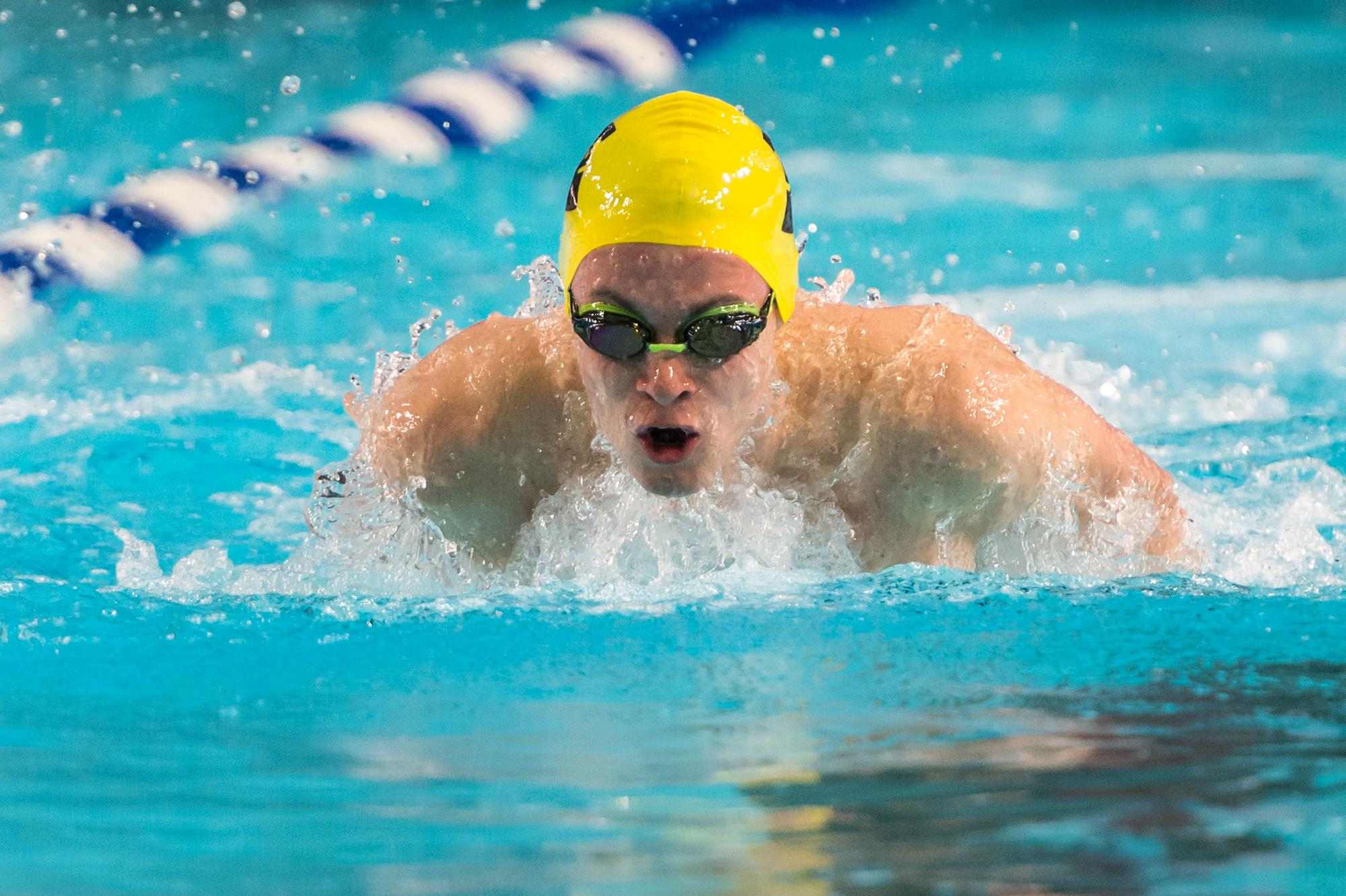Lukas Wormald Swimming toward camera
