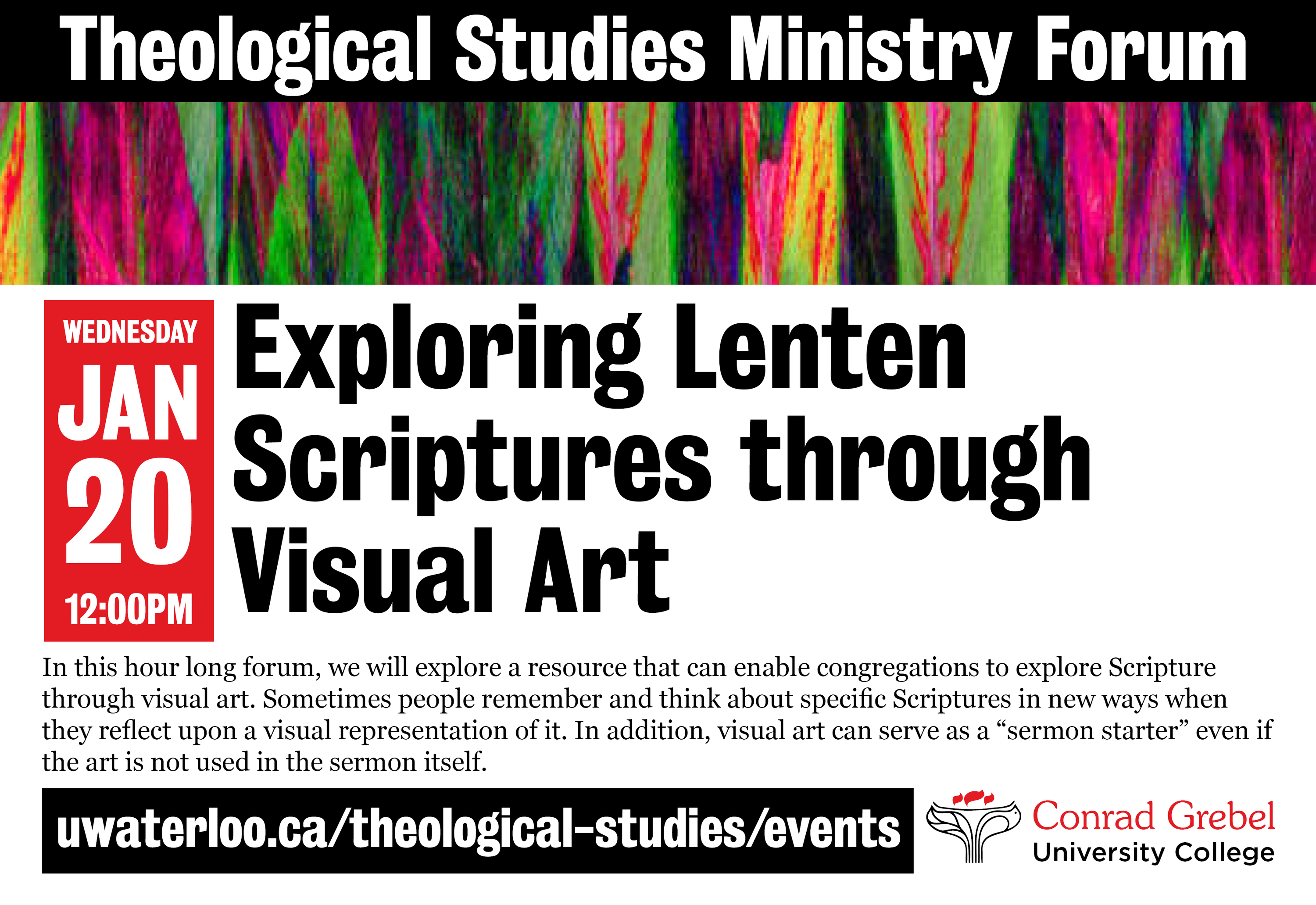 invitation to theological studies ministry forum event