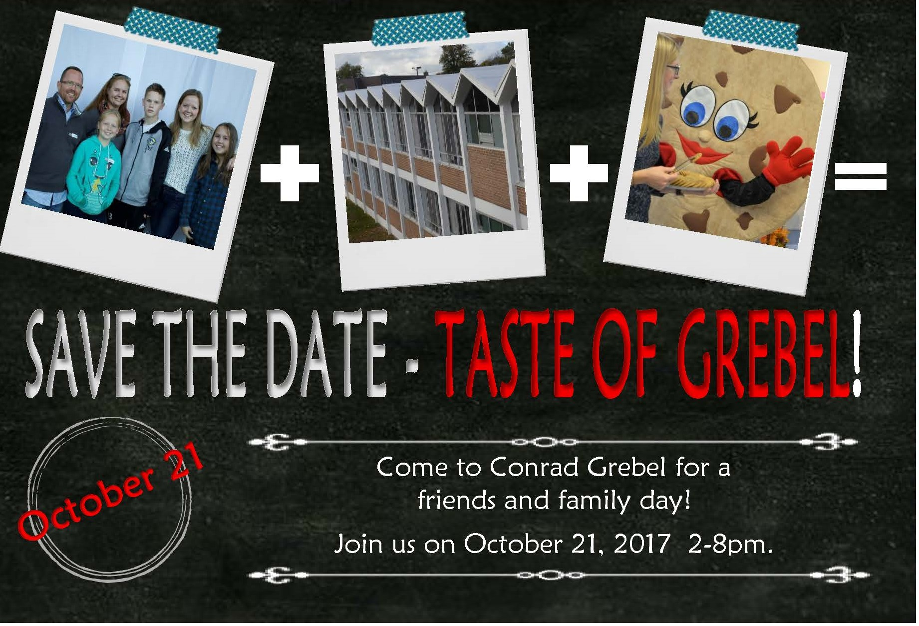 Taste of Grebel postcard save the date