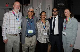Attendees at alumni event with Rohit Ramchandani.