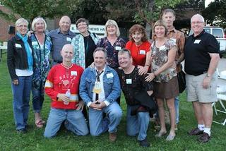 Kinesiology class of 1974 at barbecue.