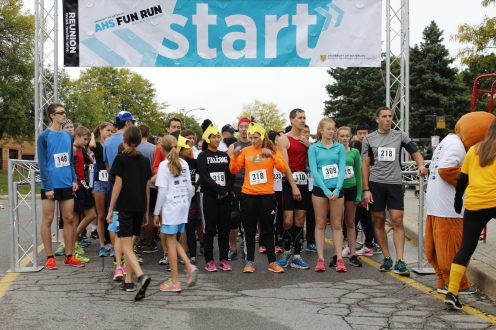 Racers at starting line