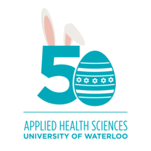 Faculty of Applied Health Sciences 50th Anniversary Logo - Easter version