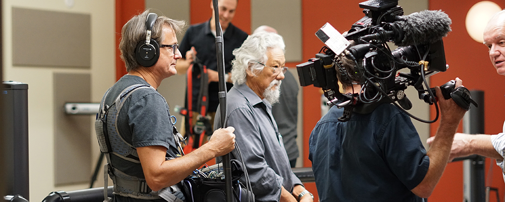 David Suzuki during filming at CCCARE