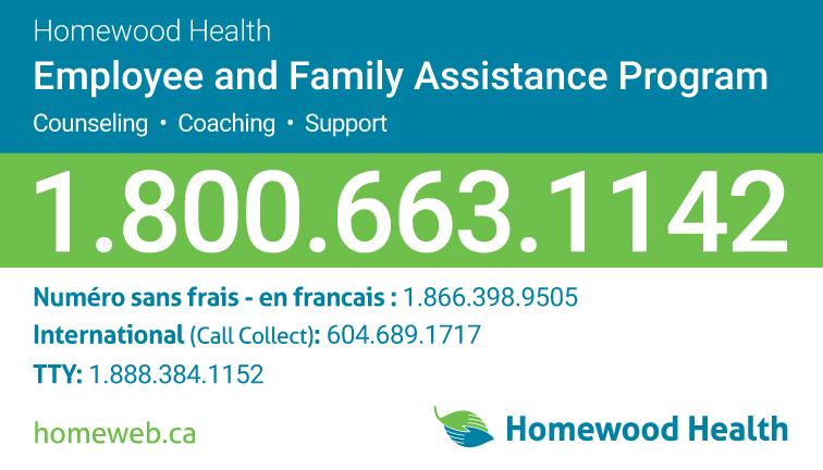 Homewood health Wallet Card