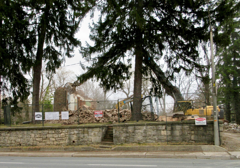 Brandon House after demolition