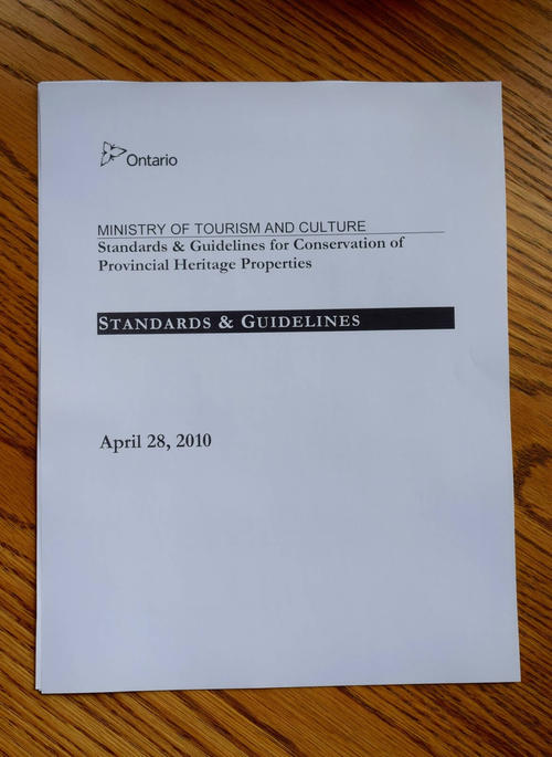 The cover of Standards & Guidelines for Conservation of Provincial Heritage Properties.