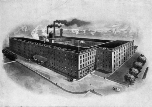An illustration of the Macdonald Manufacturing Company, a large industrial building