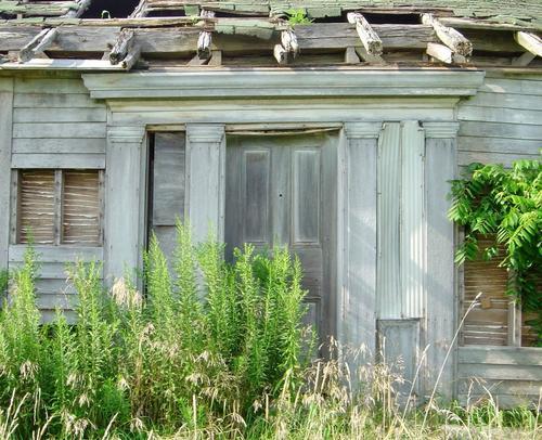 Neglected farm structure entrance