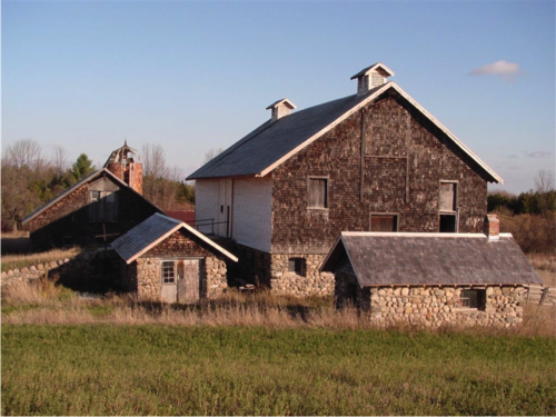 Image of a barn complex